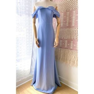 Lovers + Friends Hadid Baby Blue Maxi Gown Small